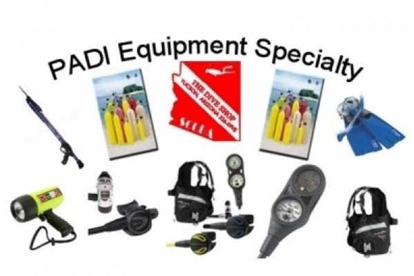 Spécialité équipement PADI