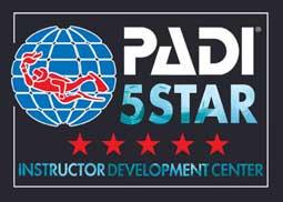 Logo PADI 5 étoiles IDC