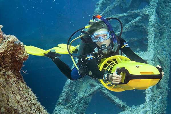 Plongée de spécialité Scooter sous-marin